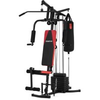 Multi Station Home Gym w/ Punching Bag & Weights