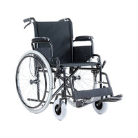 Pneumatic Foldable Wheelchair with Glide Tubes 24in