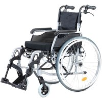 Foldable Steel Wheelchair w Cushion & Handle Brakes