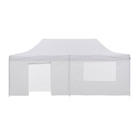 Wallaroo Folding Pop Up Marquee Gazebo White 3x6m