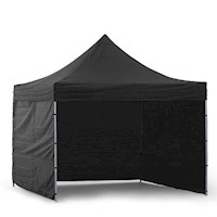 Wallaroo 3x3 Folding Marquee Pop Up Gazebo in Black