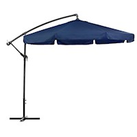 Cantilever Outdoor Market Patio Umbrella in Blue 3M