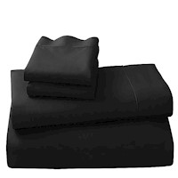 4pc 500TC King Microfiber Bed Sheet Set in Black