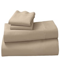 4pc 500TC King Microfiber Bed Sheet Set in Linen