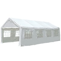 Outdoor Folding Pop Up Marquee Gazebo in White 4x8m