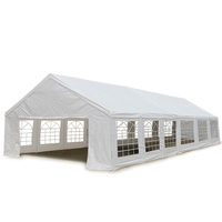 Outdoor Folding Pop Up Marquee Gazebo White 12x6m