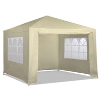 Outdoor Gazebo Party Tent or Marquee in Beige 3x3m