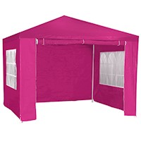 Outdoor Gazebo Party Tent or Marquee in Pink 3x3m