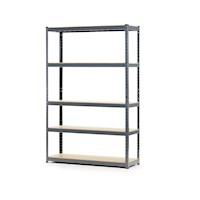 Adjustable 5 Shelf Unit Steel Storage Rack 120cm