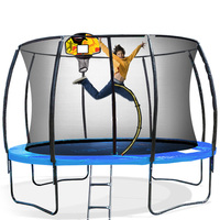 Kahuna Spring 14ft Trampoline w/ Basketball Set