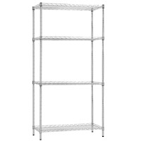 Steel Wire 4 Tier Shelving Storage Rack Unit 60cm