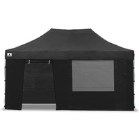 Wallaroo Pop-Up Outdoor Gazebo in Black 3x4.5m