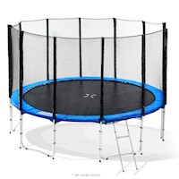 8ft Blizzard Trampoline with Net Enclosure in Blue