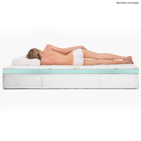 Queen Size Cool Gel Memory Foam Mattress Topper