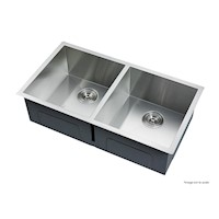 Double Stainless Steel Kitchen Sink 865x440mm