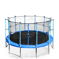 8ft Storm Trampoline  with Net Enclosure in Blue