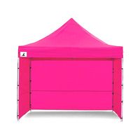 Wallaroo 3x3 Folding Marquee Pop Up Gazebo Pink