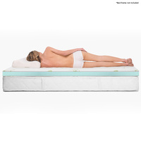 King Size Cool Gel Memory Foam Mattress Topper 8cm