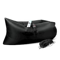 Wallaroo Inflatable Air Bed Lounge Sofa in Black