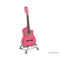 Karrera Kids Acoustic Guitar in Pink 34 Inch
