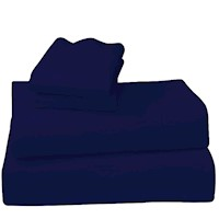 4 Piece Laura Hill 1000TC King Size Sheet Set Navy