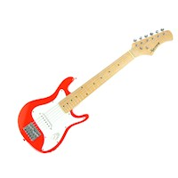 Kids Electric Guitar with Shoulder Strap in Red