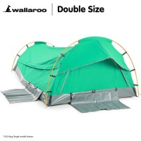 Double Size Deluxe Camping Tent Swag in Celadon