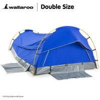 Double Size Deluxe Camping Tent Swag in Blue