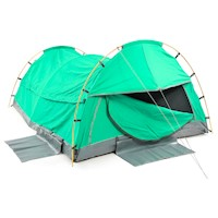 King Single Size Deluxe Camping Tent Swag Celadon