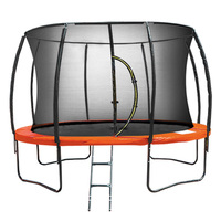 Kahuna 14ft Trampoline Set w/ Net Enclosure Orange