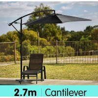 Sorrento Cantilever Outdoor Umbrella Charcoal 2.7m