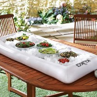 Portable Inflatable Cold Salad Bar w/ Pump in White