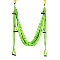 Nylon Anti Gravity Yoga Swing Hammock in Green