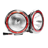 2x Rigg HID CH678 9 inch Driving Light in Red 100W