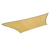Outdoor Rectangle Sun Shade Sail in Sand 7m x 6m
