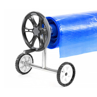 Swimming Pool Roller with Adjustable Reel 6.7m