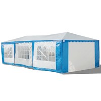 Portable Gazebo Marquee in Blue and White 4m x 8m