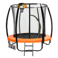Kahuna 6ft Trampoline with Net Enclosure in Orange