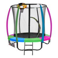 Kahuna Net Enclosed Trampoline & Basketball Set 6ft