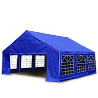 Portable Gazebo Marquee Party Tent in Blue 6m x 6m