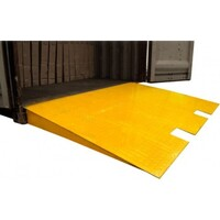 Forklift Loading Ramp in Yellow 7000kg 1.2 x 2.3m