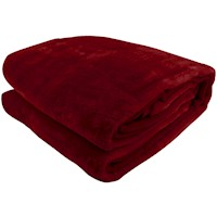 Double Sided Queen Faux Mink Blanket in Red 600GSM