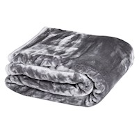 Queen Double Sided Faux Mink Blanket Silver 800GSM