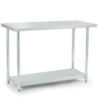 Stainless Steel Commercial Work Bench w/ Splashback