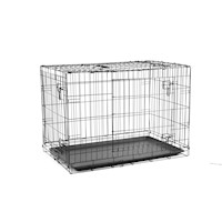 "Foldable Pet Cage Dog Puppy Metal Wire Crate Kennel House 24"" 30"" 36"" 42"" 48"""