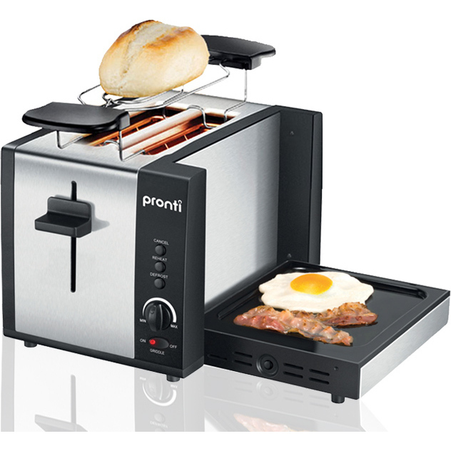 Pronti 3 in 1 Toaster Griddle Hotplate Warming Rack