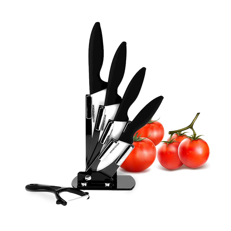 6pc White Ceramic Knife Set Kitchen Knives Fruit Peeler Gift Box Sharp