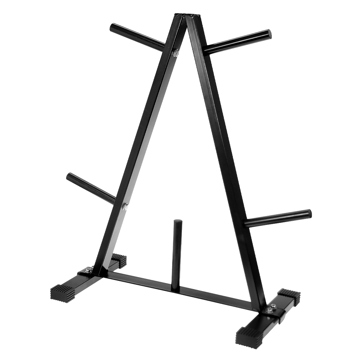 Free Weights Storage: Powertrain Weight Plates Storage Rack A-frame Holder