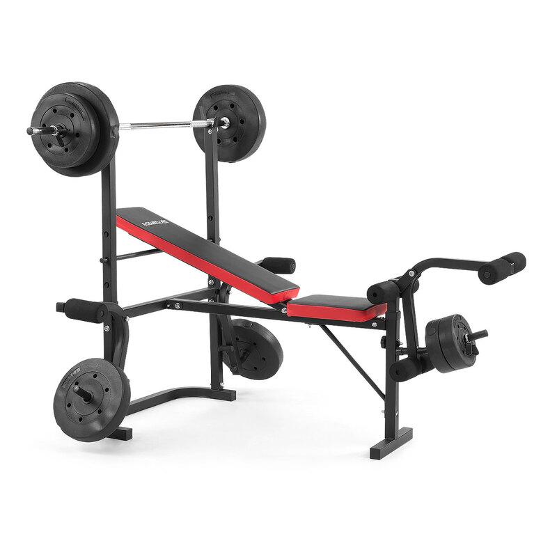 Powertrain Home Gym Workout Bench Press With 67kg Weights Buy