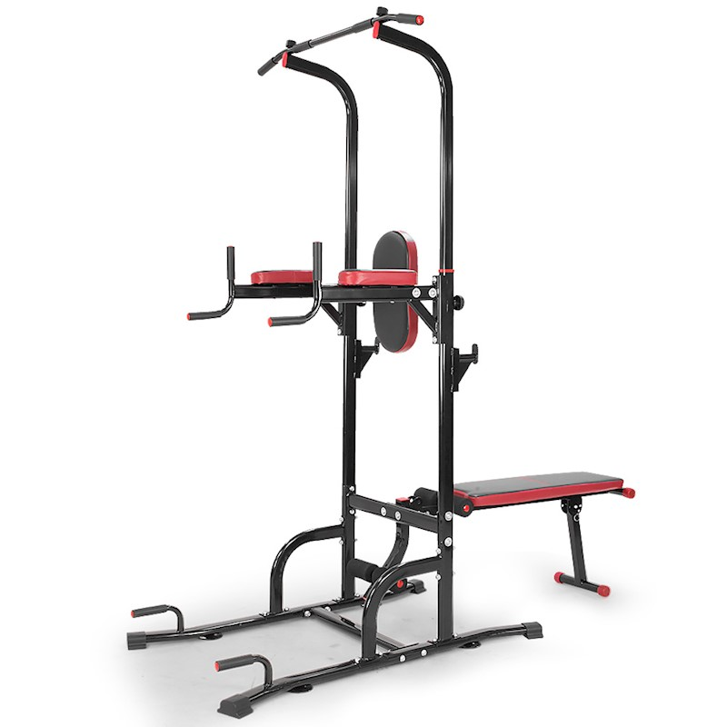 1b37683291e New Power Tower Pull Up Multi Station Chin Up Weight Bench Dip Knee ...